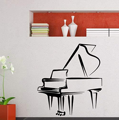 Klavier Wandtattoo Musik Flügel Wandaufkleber Musik Bar Dekoration Hause Mädchen Room Decor Musik Stil Wandkunst Aufkleber 42x47 cm