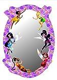 Hadas Disney - Campanilla, Vidia, Iridessa, Fawn, Rosetta, Silvermist,Periwinkle Espejo Decorativo (21 x 15cm)