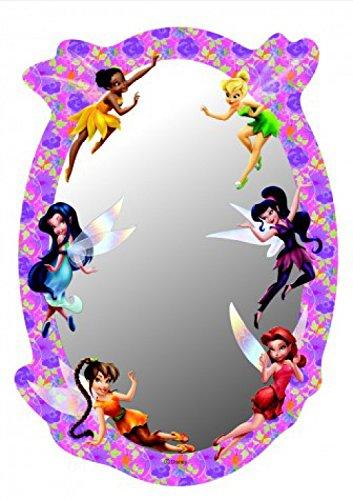 Disney Fairies - Trilli, Argentea, Vidia, Iridessa, Rosetta, Daina, Pervinca Poster Specchio Decorativo (21 x 15cm)