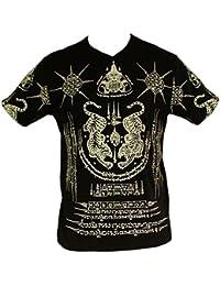 Tiger Yantra T-shirt, alte Kambodscha Schutzsymbole, Khmer Tattoo Kunst,