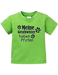 Baby Halstuch Angry Shirts Meine Geschwister haben Pfoten Niedliche Pfotenabdr/ücke mit Herz