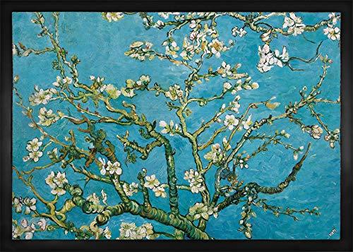 1art1 94752 Vincent Van Gogh - Blühende Mandelbaumzweige, 1890 Fußmatte Türmatte 70 x 50 cm -