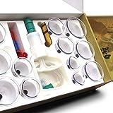 Profi Schröpfglas-Set aus hochwertigem Kunststoff mit Therapiemagneten - professionelles, medizinisches Schröpfset, Vakuum Cupping-Set, TCM, Faszientherapie