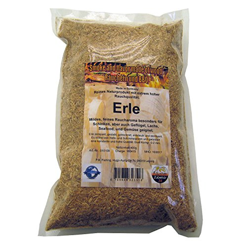 Räuchermehl Erle, 400g Räucherspäne vom Erlenholz, Korngröße 0-2 mm (Erle)