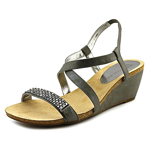 Anne Klein Jasia Textile Keilabsätze Sandale Pewter Sy