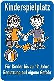 4439. Schilder Spielplatzschild Spielplatzschild, Kinderspielplatz Aluminium, pulverlackbeschichtet, 2, mm stark 40,0 x 60,0 cm