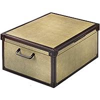 LAVATELLI Caja de Almacenamiento en cartón, Montaje Muy facil, práctica y Decorativa, con manejas, tamaño Medio diseño Tapirus