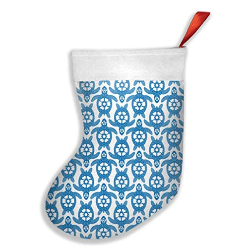 Sweet grape Christmas Stockings Turtles.jpg Stocking with White Polyester Cuff -