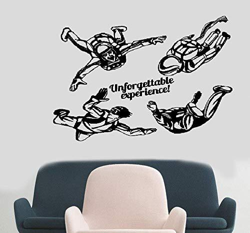 Wandtattoo Kinderzimmer Tapferer Mann Spiel Home Decor Wohnzimmer Brave Fallschirmspringen Fallschirm Jump Extreme Sportsl Decals Dekoration