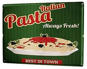 Amazon De Blechschild Kuche Pasta