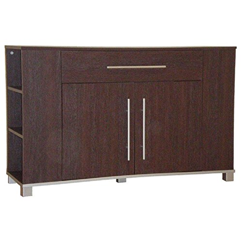 Sideboard Dark Wood 2 Cupboard Doors 1 Drawer Marlow