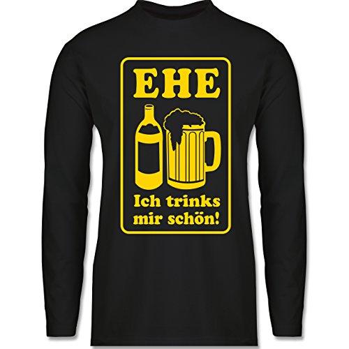 JGA Junggesellenabschied - Ehe - Ich trinks mir schön - Longsleeve /  langärmeliges T-Shirt