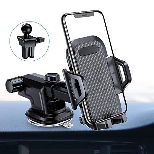 VANMASS Handyhalter fürs Auto Handyhalterung 3 in 1 Kfz Handy Halterung Lüftung mit Lüftungs & Saugnapfshalterung für Phone XS XR X 8 8P, Samsung Galaxy S9 S8 S7 Note 9, Huawei Mate 20 Pro und andere