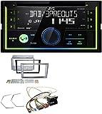JVC KW-DB93BT Bluetooth DAB CD MP3 2DIN USB Autoradio für Opel Antara Astra H Zafira B Charcoal