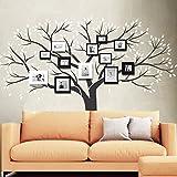 Wandora Wandtattoo 2-Farbiger Baum mit Blättern und Ästen I Gold (BxH) 179 x 150 cm I Wohnzimmer Flur XXL Schlafzimmer Mehrfarbig W1358