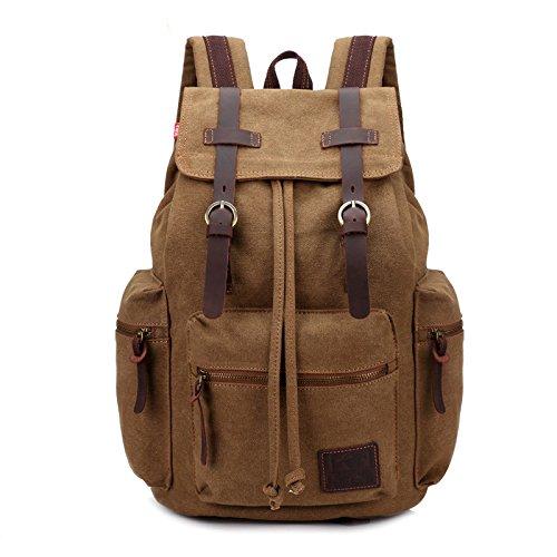 Imagen de fandare  de senderismo daypacks computadoras laptop  satchel bookbag alpinismo multi función vintage bolsa de tela marrón alternativa