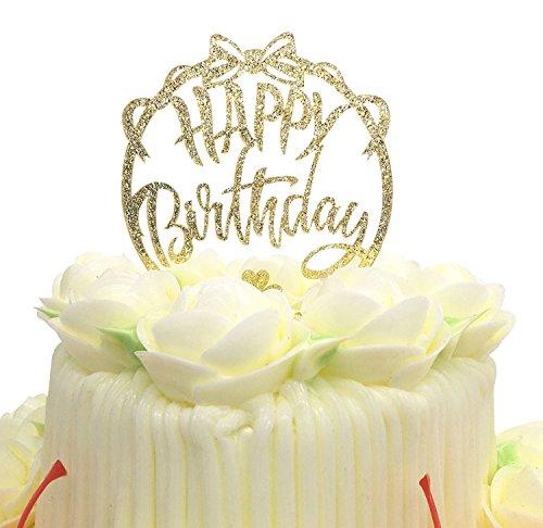 Topper, Acryl Gold Twinkle DIY Glitzer ersten Geburtstag Cupcake Topper Kuchen Smash Kerze Alternative Party handgefertigt - Twinkle Bow Tie ()