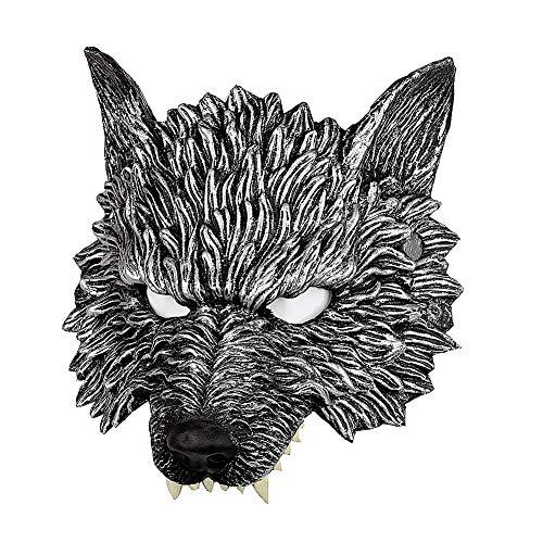 Nacht Wolf Kostüm - Spachy Halloween Maske 3D Wolf Kopfmaske Maskenade Cosplay Party Kostüm Requisite Nacht Kleid Up, Wolf, Free Size
