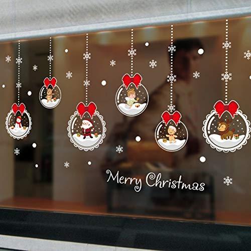Pbldb Fenêtre De Noël Sticker Mural Décoration Murale Stickers Muraux Decal Pour Chambre Stickers Décoration De La Maison 60X45Cm 01