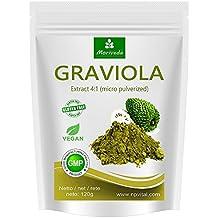Graviola Pulver 120g, Frucht- und Pflanzenextrakt 4:1, Qualitätsprodukt von MoriVeda – Sauersack (1x120g)