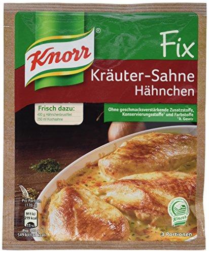 Knorr Fix Kräuter-Sahne Hähnchen 3 Portionen (10 x 28 g)
