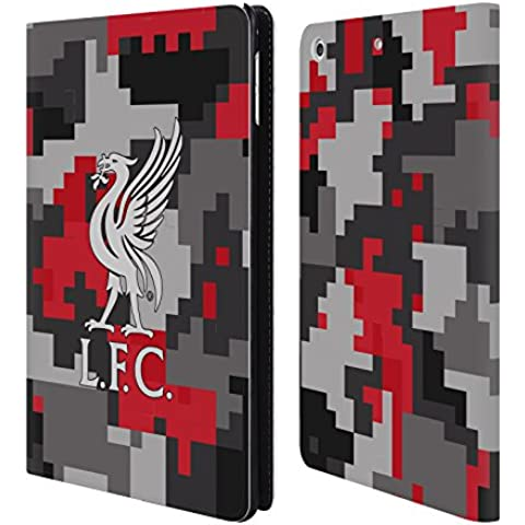 Ufficiale Liverpool Football Club Colori Del Club Camouflage Digitale Cover a portafoglio in pelle per Apple iPad mini 4