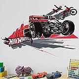 Bilderwelten Wandtattoo Hot Wheels Motorradsprung, Sticker Wandtattoo Wandsticker Wandbild, Größe: 80cm x 120cm
