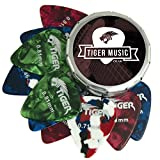 Tiger Guitar Plectrums with Pick Tin, 12 Medium - Best Reviews Guide