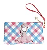 #10: Shopaholic Adorable Chinese Girl Featured Artifical Leather Pencil Pouch,Hand Pouch To Store Your Valuables For Kids/Teenagers/Women(Small Size)