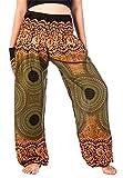 Lofbaz Damen Haremshose mit gesmoktem Boho Hosen Stripe Cool Size 4XL