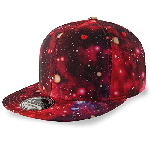 Ethos Blank Snapback Cap Galaxy All Over Red
