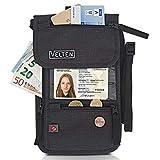 Velten - Premium Brustbeutel - Mit Karabiner und Gürtelschlaufe - Hochwertige Brusttasche mit RFID Blocker - Wasserfeste Hüfttasche für Damen und Herren - Luxus Reisebeutel für Sicherheit unterwegs