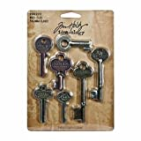 "Idea-Ology Metal Word Keys 1.5"" To 3"" 7/Pkg"