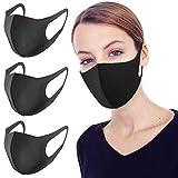 Anti-Staub-Maske Gesichtsmaske Mund, Mode Wiederverwendbare waschbare Outdoor-Unisex-Maske (3er-Pack)