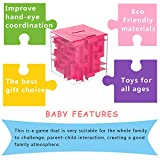 AlfaView Money Maze Puzzle Box, Creative Maze Money Bank Unique Cube Saving Money Develop Intelligence Maze Puzzle Box Brain Teasers Fun Game Challenge for Kids