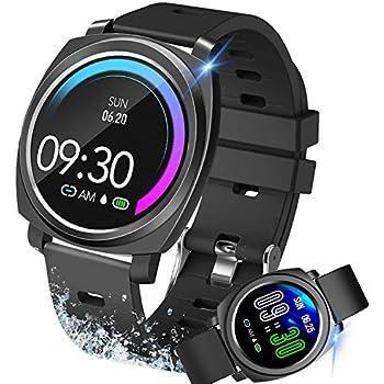 Smartwatch, relojes deportivos inteligentes Hombre Mujer, Pulsera Actividad Inteligente Reloj Deportivo Reloj Fitness con Pantalla Táctil Completa ...