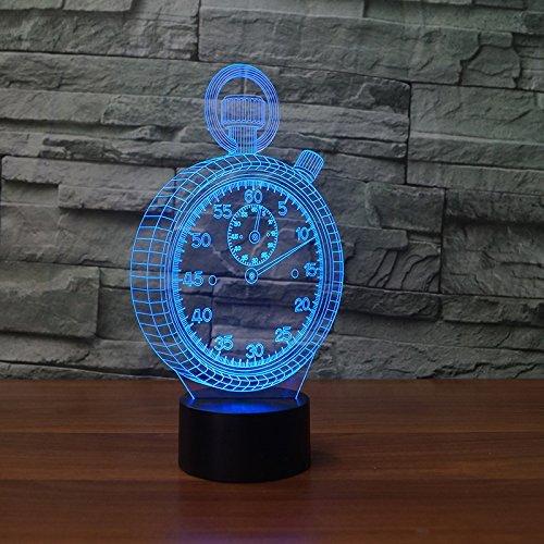 Optical Illusions 3D Wecker Nacht Licht LED Lampen Tolle 7 Farbwechsel Berühren Tabelle Schreibtisch USB-Kabel für Kinder Schlafzimmer Geburtstagsgeschenke Geschenk