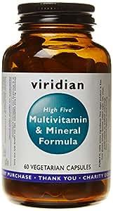 Viridian High Five Multivitamin and Mineral Formula, 60 Vegi caps