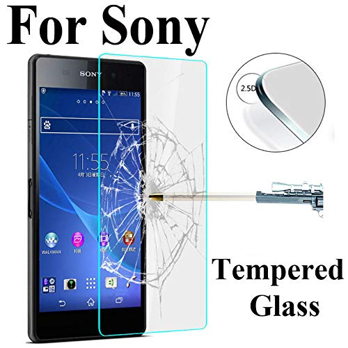 Panzerglas Schutzfolie Film,2.5D Tempered Glass for Sony Xperia Z1 Z2 Z3 Z4 Z5 Compact M2 M4 Aqua M5 Screen Protector Toughened Glass Film for Z3 Compact (Turbo Anti Spy Droid)
