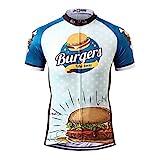 Thriller Rider Sports® Herren Burgers Sport & Freizeit MTB Fahrradbekleidung Radtrikot X-Large