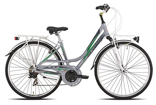 LEGNANO BICICLETA 421 SMERALDA LADY 21 V TALLA 48 SILVER/VERDE (CITY)/BICYCLE 421 SMERALDA LADY 21S SIZE 48 SILVER/GREEN (CITY)