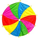 Edz Kidz 210T Fun Play Swirl Pattern Parachute with 10 Handles. Ideal Indoor/Outdoor play mat and Picnic Blanket. …