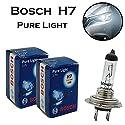 2x Bosch Pure Light H7 55W 12V 1987302777 Weiß Hight Tech Ersatz Halogen Birne für Scheinwerfer, Fernlicht, Abblendlicht, Nebelleuchte vorne - E-geprüft