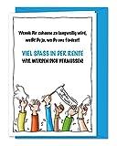 Freche XXL Grußkarte für Kollege, Kollegin zum Abschied, zur Verabschiedung in Rente, Ruhestand, Pensionierung, Altersteilzeit inklusive Umschlag (DIN A4)