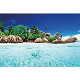 great-art XXL Poster Insel im paradiesischen kristallklaren