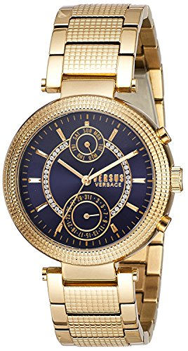 Versus by Versace Women's 'STAR FERRY' Quartz Stainless Steel and Gold Plated Casual Watch(Model: S79070017)