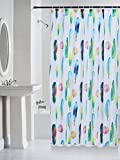Spread 100% Water Proof High Quality Textile Shower Curtain with 12 Plastic Hooks