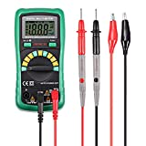 INLIFE Digital Multimeter Volt Amp Ohm Meter Multi Tester with Test Lead, 2000 Counts Auto Ranging, DC Current Resistance Diodes, Audible Continuity Test Backlight and LCD Display