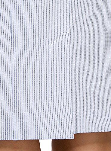 oodji Collection Damen Gerader Rock Basic Blau (1279S)