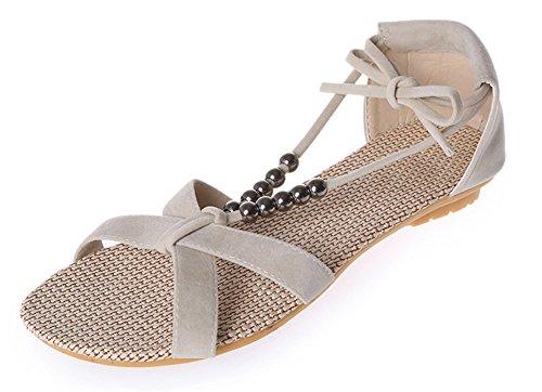 Fortuning's jds ragazze delle signore sandali piani scarpe estive di moda in rilievo lace-up